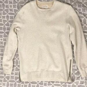On The Byas cream zipper sweater